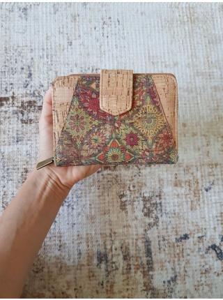 Dámska korková peňaženka MANDALA