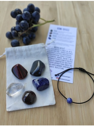 HOME OFFICE – balíček minerálov (šungit, sodalit, býčie oko, granát, krištáľ)