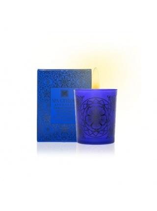 Kadidlo & gáfrová limetka – prírodná aromatická sviečka